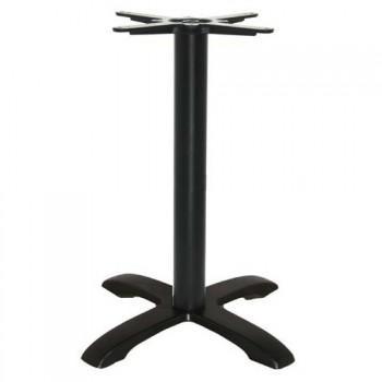 Tafelonderstel Horeca tafelonderstel zwart glad kruis 48x48cm Horeca