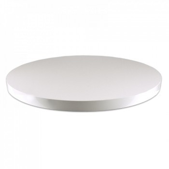 Tafelblad Horeca tafelblad wit 5cm dik Rond Horeca