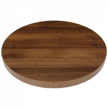 Tafelblad rond horeca tafelblad Rustic Oak 60cm Horeca