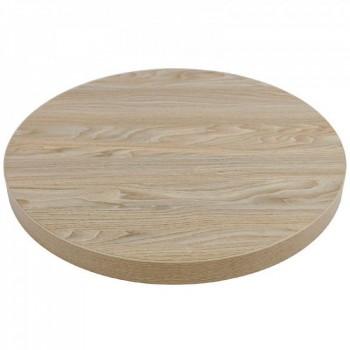 Tafelblad rond horeca tafelblad Antique Natural 60cm Horeca