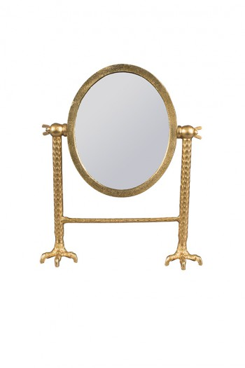 Decoratie Falcon mirror Brass Dutchbone