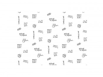 Accessoire WRITINGS WALLPAPER NIDI kinderkamers - Tienderkamers