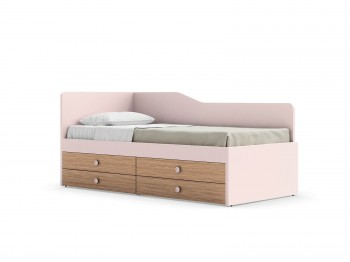 Bed EQUIPPED BED WITH ERGO BACK PANEL NIDI kinderkamers - Tienderkamers