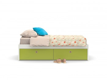 Bed EQUIPPED PLATFORM BED NIDI kinderkamers - Tienderkamers