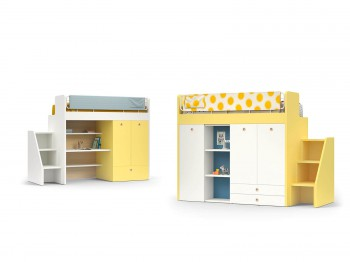 Bed ERGO BUNK BED NIDI kinderkamers - Tienderkamers