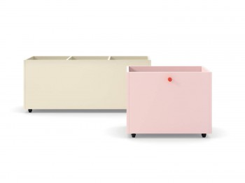 Kast TYNN STORAGE BOX ON WHEELS NIDI kinderkamers - Tienderkamers