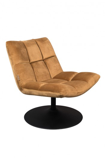 Zetels Bar Velvet lounge chair Dutchbone