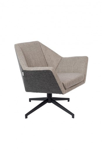 Zetel Uncle Jesse lounge chair & hocker Zuiver