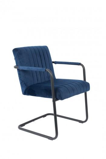 Stoelen Stitched Velvet armchair Dutchbone