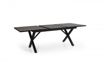 HILLMOND DINING TABLE BLACK 160-220 meubelen