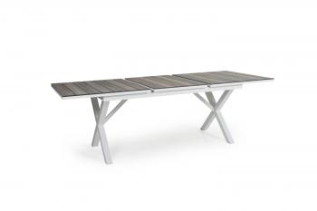 HILLMOND DINING TABLE WHITE 160-220 meubelen