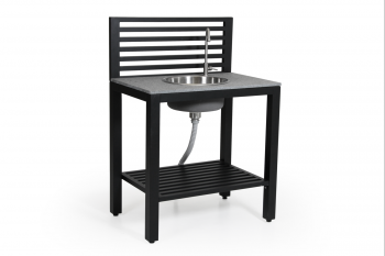 Buitenkeuken BELLAC OUTDOOR KITCHEN BLACK / sink BRAFAB BUITENMEUBELEN