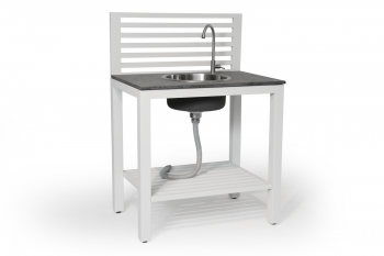 Buitenkeuken BELLAC OUTDOOR KITCHEN WHITE Sink BRAFAB BUITENMEUBELEN