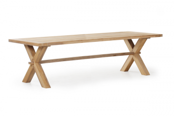 EVEREST DINING TABLE NATURAL COLOR 280/100 meubelen