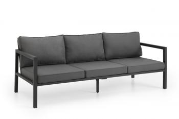 BELFORT 3-SEATER SOFA BLACK meubelen