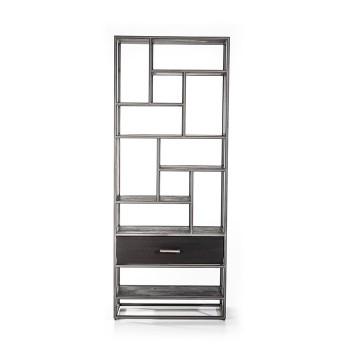 Boekenkast Hudson 1 lade - zwart meubelen
