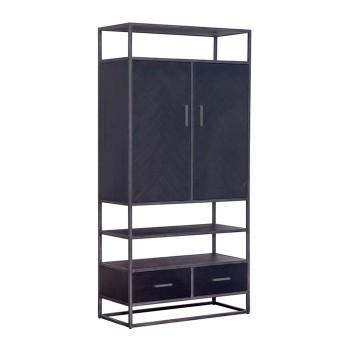 Kabinet Hudson 2drs. 2 laden - zwart meubelen