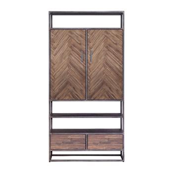 Kabinet Hudson 2drs. 2 laden - bruin meubelen