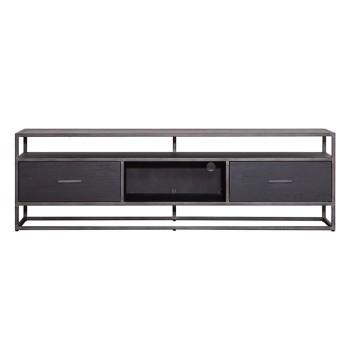 Kasten TV meubel Hudson 185 cm - zwart Eleonora