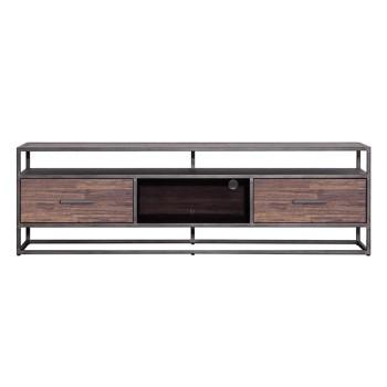 Kasten TV meubel Hudson 185 cm - bruin Eleonora