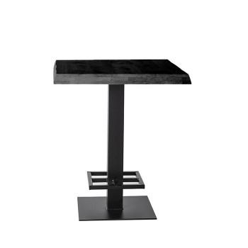 Tafels Countertafel - 80x80 zwart Eleonora