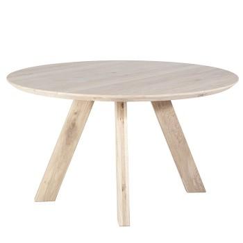 Tafels Eettafel rond - 140x140 naturel Eleonora