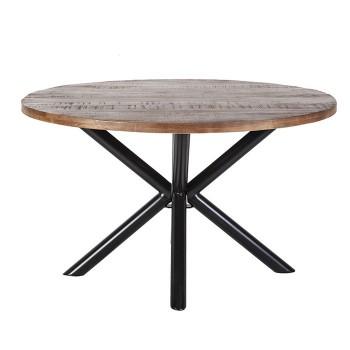 Tafels Eettafel rond met kruispoot - 150x150 Eleonora