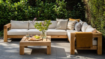Lounge HOEKBANK 5-ZITS Thuyn - Massieve tuinmeubelen