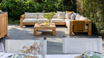 Lounge HOEKBANK 6-ZITS Thuyn - Massieve tuinmeubelen