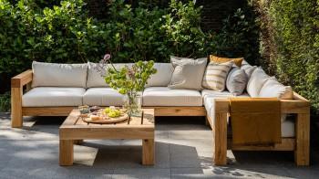 Lounge HOEKBANK 8-ZITS Thuyn - Massieve tuinmeubelen