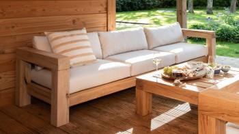 Lounge LOUNGEBANK 3-ZITS Thuyn - Massieve tuinmeubelen
