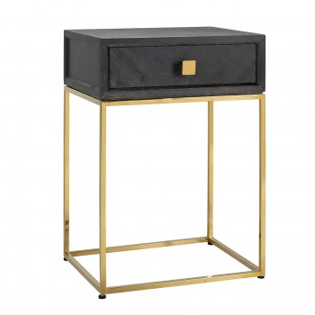 Kasten Nachtkastje Blackbone gold 1-lade Richmond Interiors