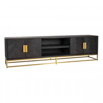 Kasten TV-dressoir 220 Blackbone gold 4-deuren Richmond Interiors