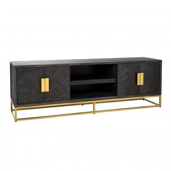 Kasten TV-dressoir 185 Blackbone gold 4-deuren Richmond Interiors