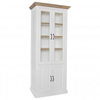 Kasten Vitrine Oakdale 2x2-deuren 3-planken Richmond Interiors