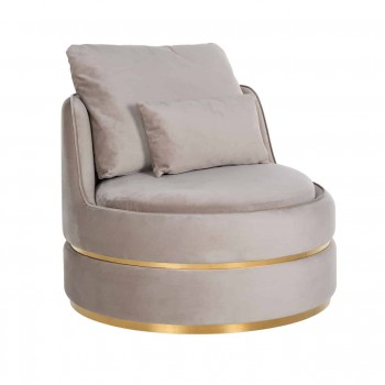Zetels Fauteuil Kylie Khaki velvet / Brushed gold Richmond Interiors