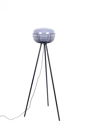 Smokey floor lamp