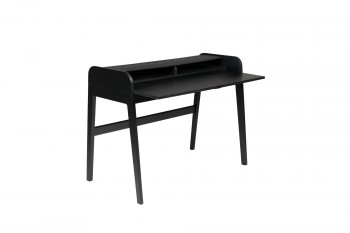 Tafel Barbier Black desk table Zuiver