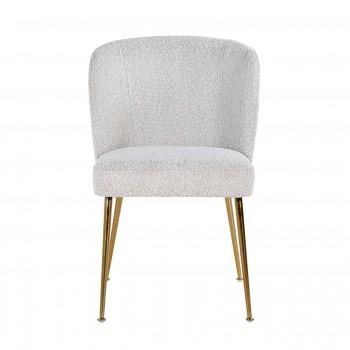 Stoelen Stoel Cannon White Bouclé / Brushed gold (Copenhagen 900 Bouclé White) Richmond Interiors