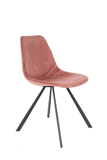 Stoelen Franky Velvet chair Dutchbone