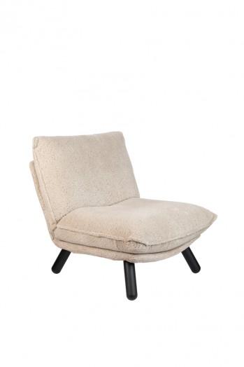 Zetel Lazy Sack lounge chair + hocker teddy Zuiver