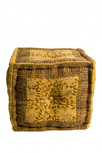 Zetels Indian Block pouf Dutchbone
