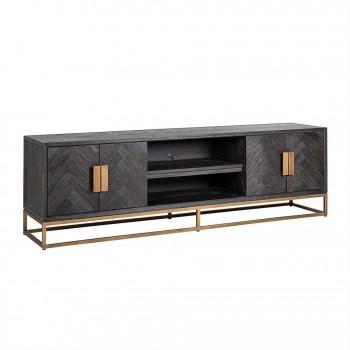 Kasten TV-dressoir Blackbone brass 4-deuren 200 (Brushed Gold) Richmond Interiors