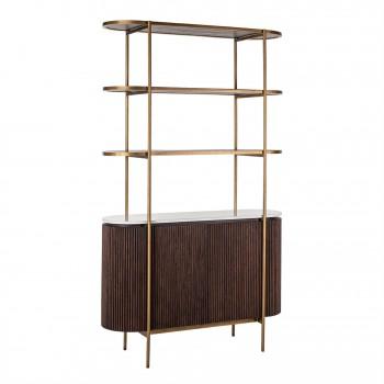 Kasten Wandkast Barkley 2-deuren 3-planken (Brushed Gold) Richmond Interiors