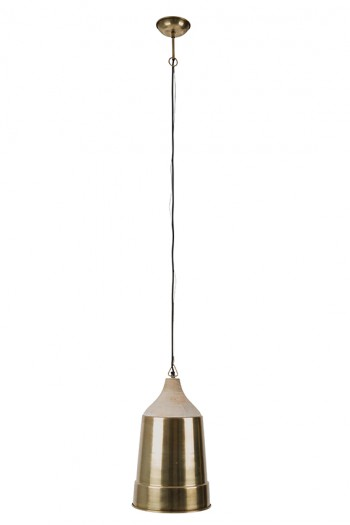 Verlichting Wood top pendant lamp Dutchbone