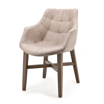 Stoelen Chair Neba with armrest and Oak leg Eleonora