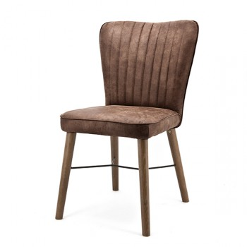 Stoelen Chair Chiba with Oak leg Eleonora