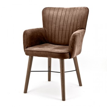 Chair Chiba with arm. and Oak leg meubelen