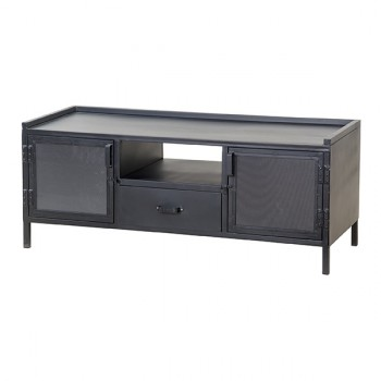 Kasten TV-cabinet 2 doors 1 drawer - black Eleonora