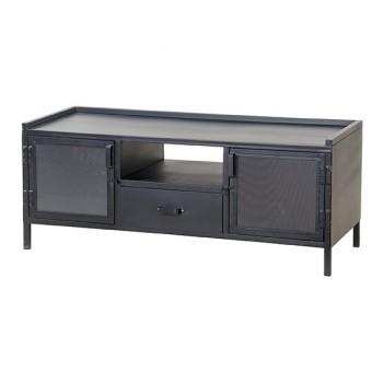 Kasten TV-cabinet 2 doors 1 drawer - black Eleonora